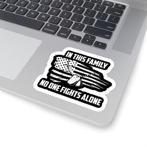 No One Fights Alone Sticker