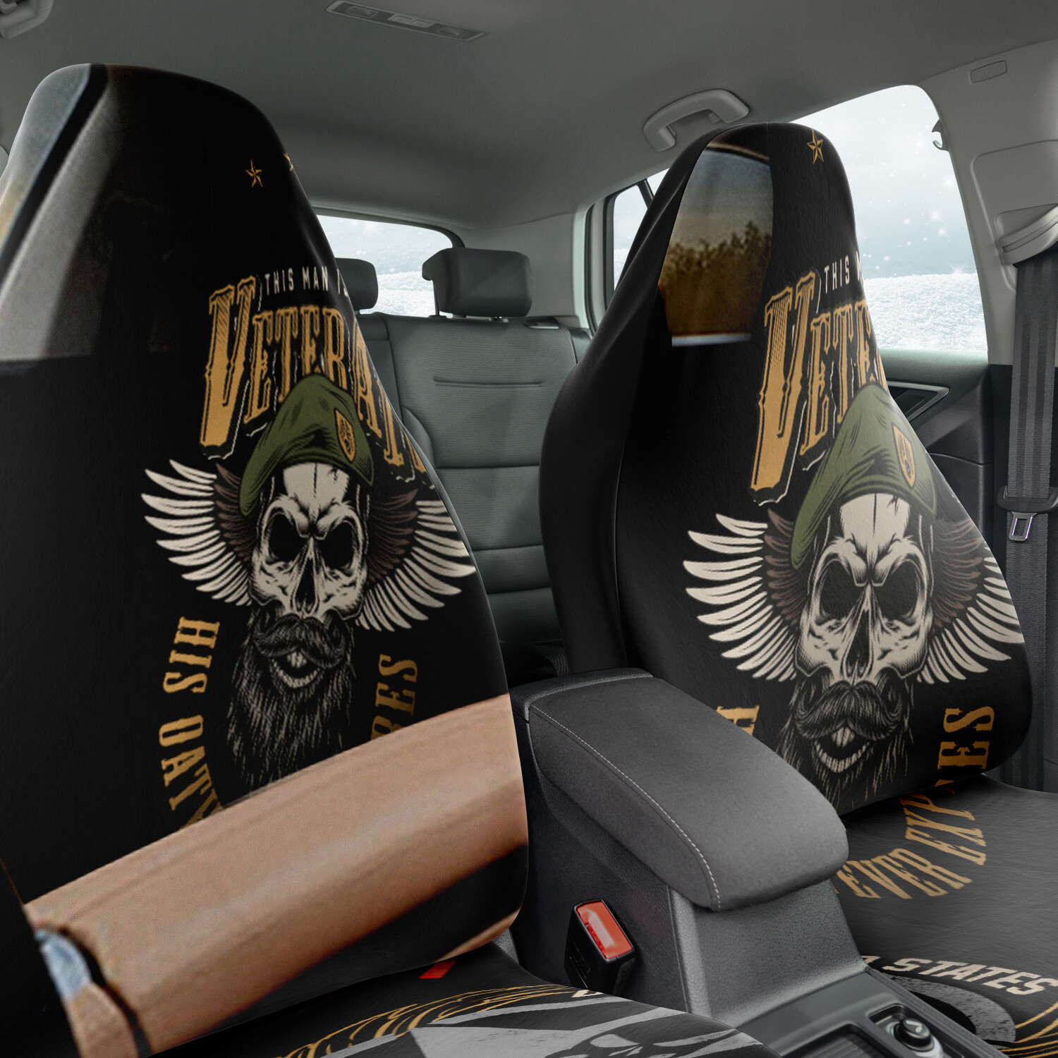 This Man Is A Veteran Car Seat Cover