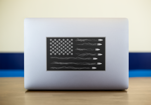USA Bullet Flag Sticker