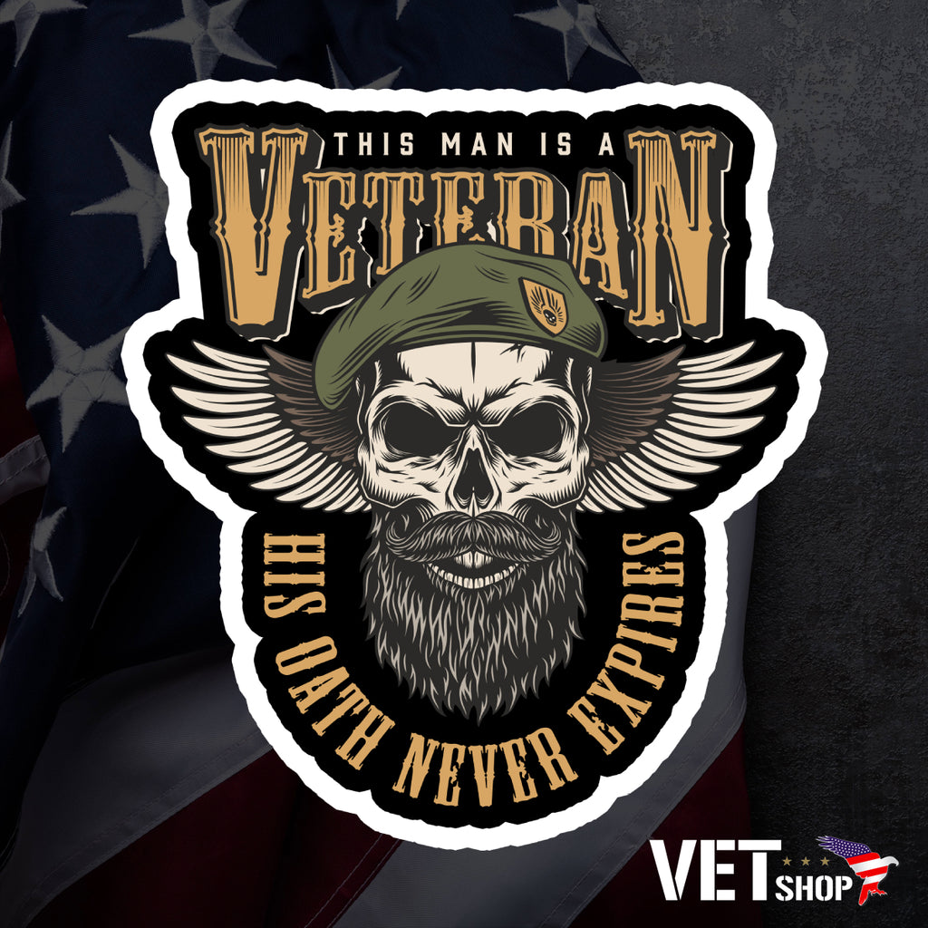 Veteran Oath Sticker