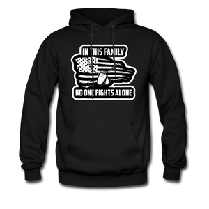 No One Fights Alone Hoodie - black