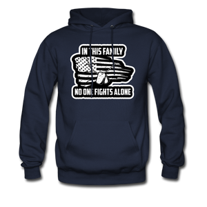 No One Fights Alone Hoodie - navy