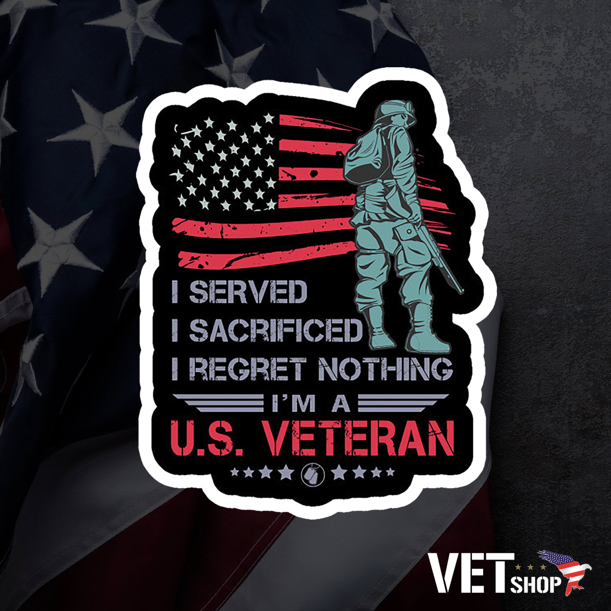 US Veteran Sticker