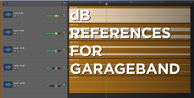 See Volume (dB) Numerical Levels in GarageBand: A Visual Reference Guide