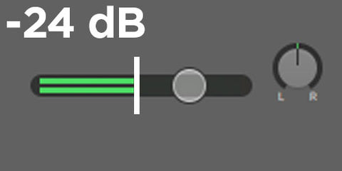 how to see db (decibel) levels in garageband volume meter
