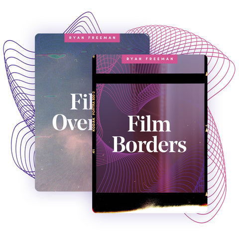 Organic Photo Film Borders + Overlays [Save 50% Bundled]
