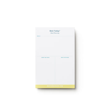 Best Today™ Meal Planning Pad