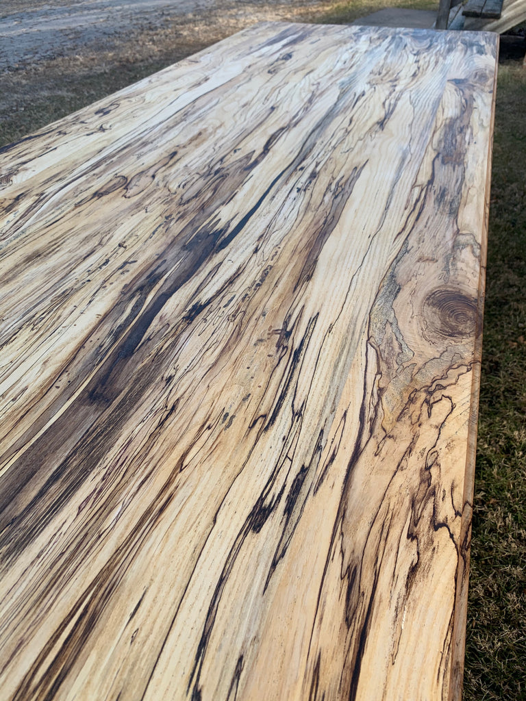 spalted hackberry dining table