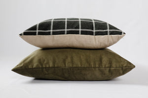 "Window Pane Charcoal Pillow 18"" or 20"""