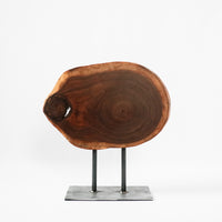 Wood Slice on Stand