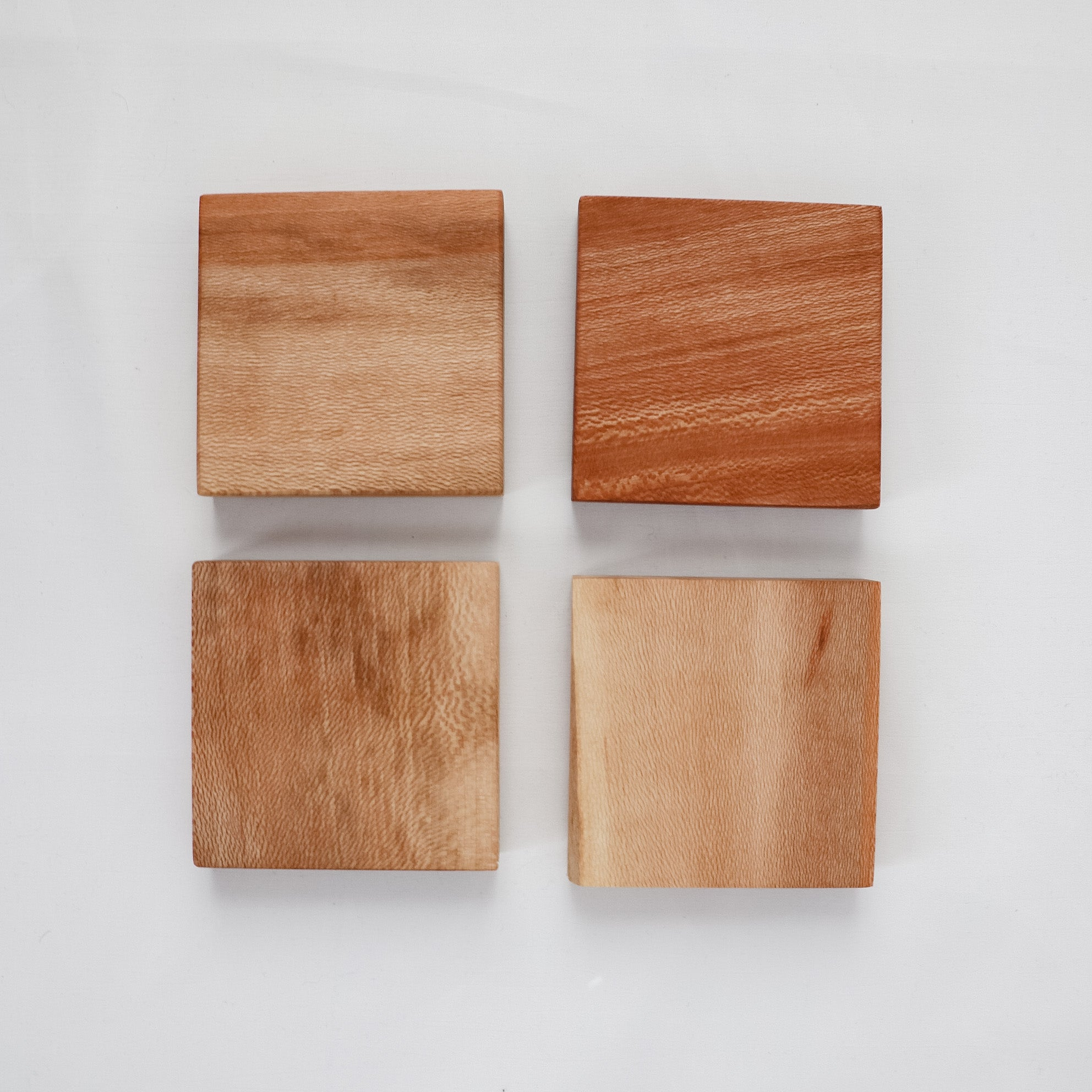 Set of 4 Quartersawn Sycamore Coasters