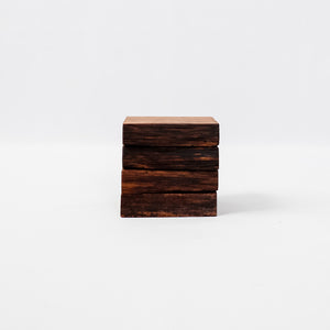 Set of 4 Live Edge White Oak Coasters