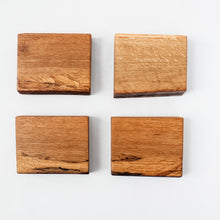 Load image into Gallery viewer, Set of 4 Live Edge White Oak Coasters
