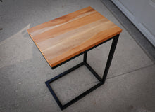 Load image into Gallery viewer, Quartersawn Sycamore Industrial Side C Table