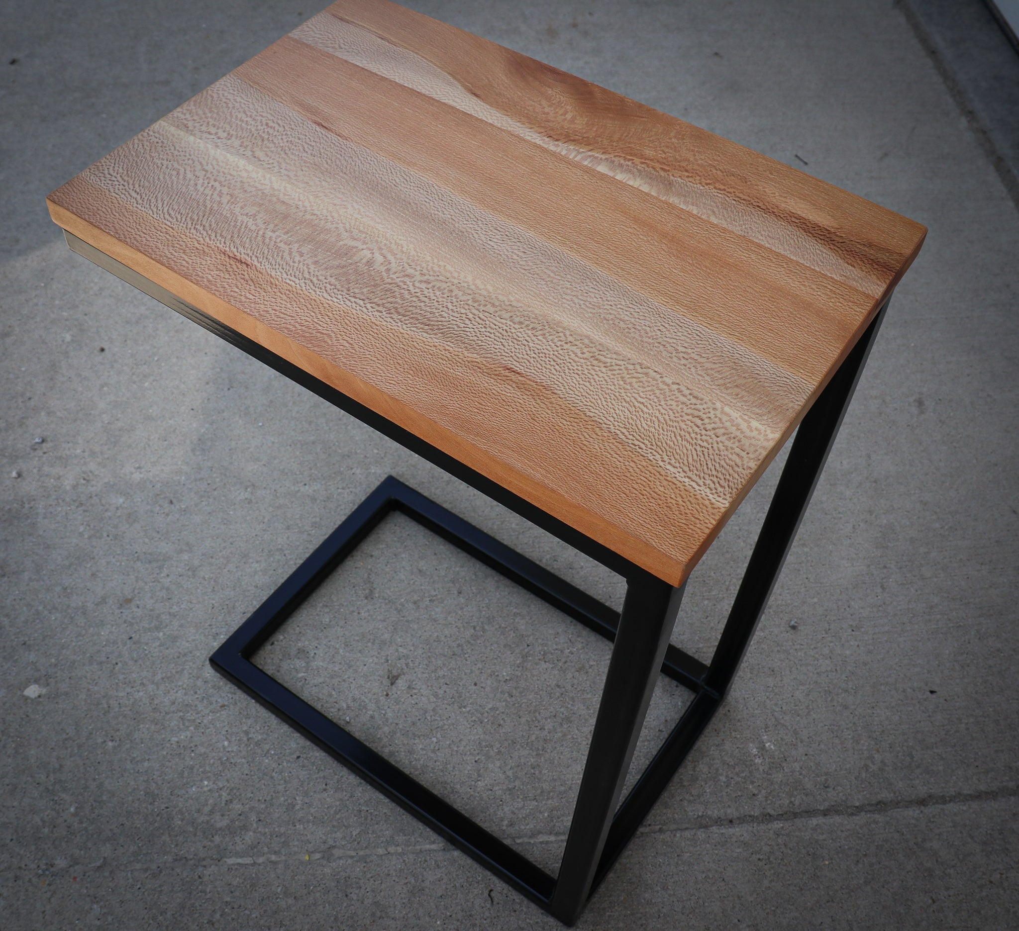 Quartersawn Sycamore Industrial Side C Table