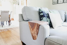 Load image into Gallery viewer, walnut wood sofa armrest table