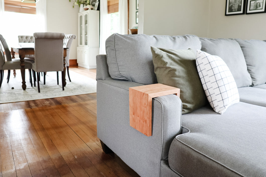 Solid Cherry Wood Sofa Armrest Table
