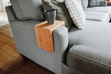 Load image into Gallery viewer, Solid Cherry Wood Sofa Armrest Table