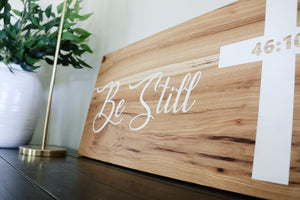 Solid Hickory Wood Wall Sign