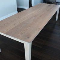 Solid White Oak Shaker Style Dining Table