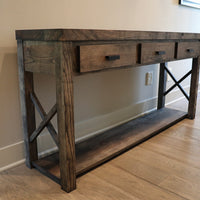 Charcoal Farmhouse Modern Style Ash Console Entry Table
