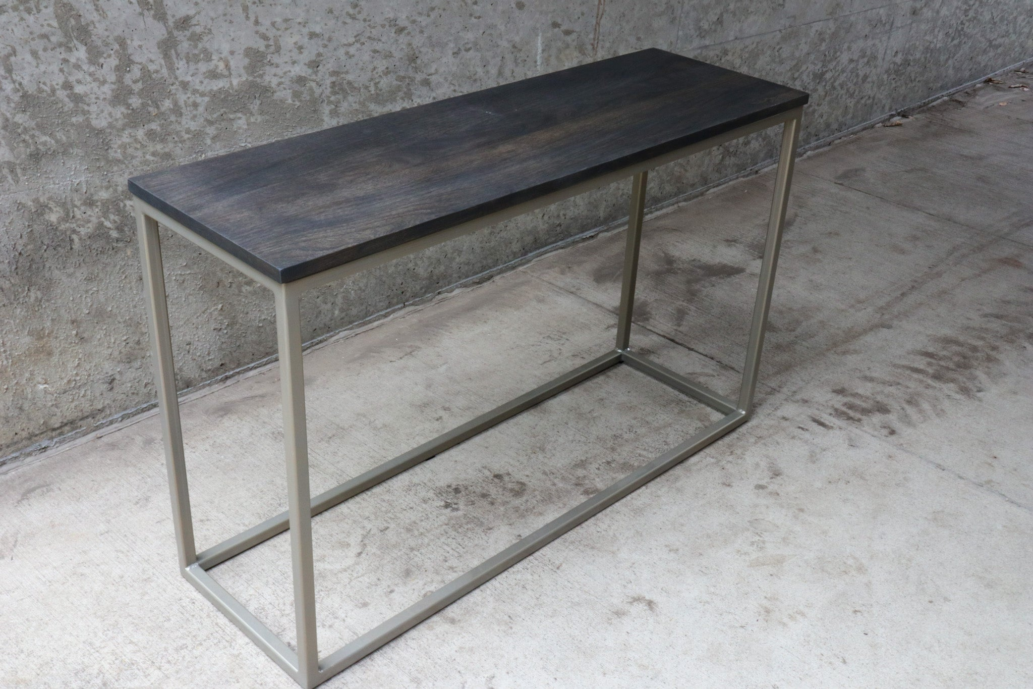 Modern Metal & Wood Console Entryway Table