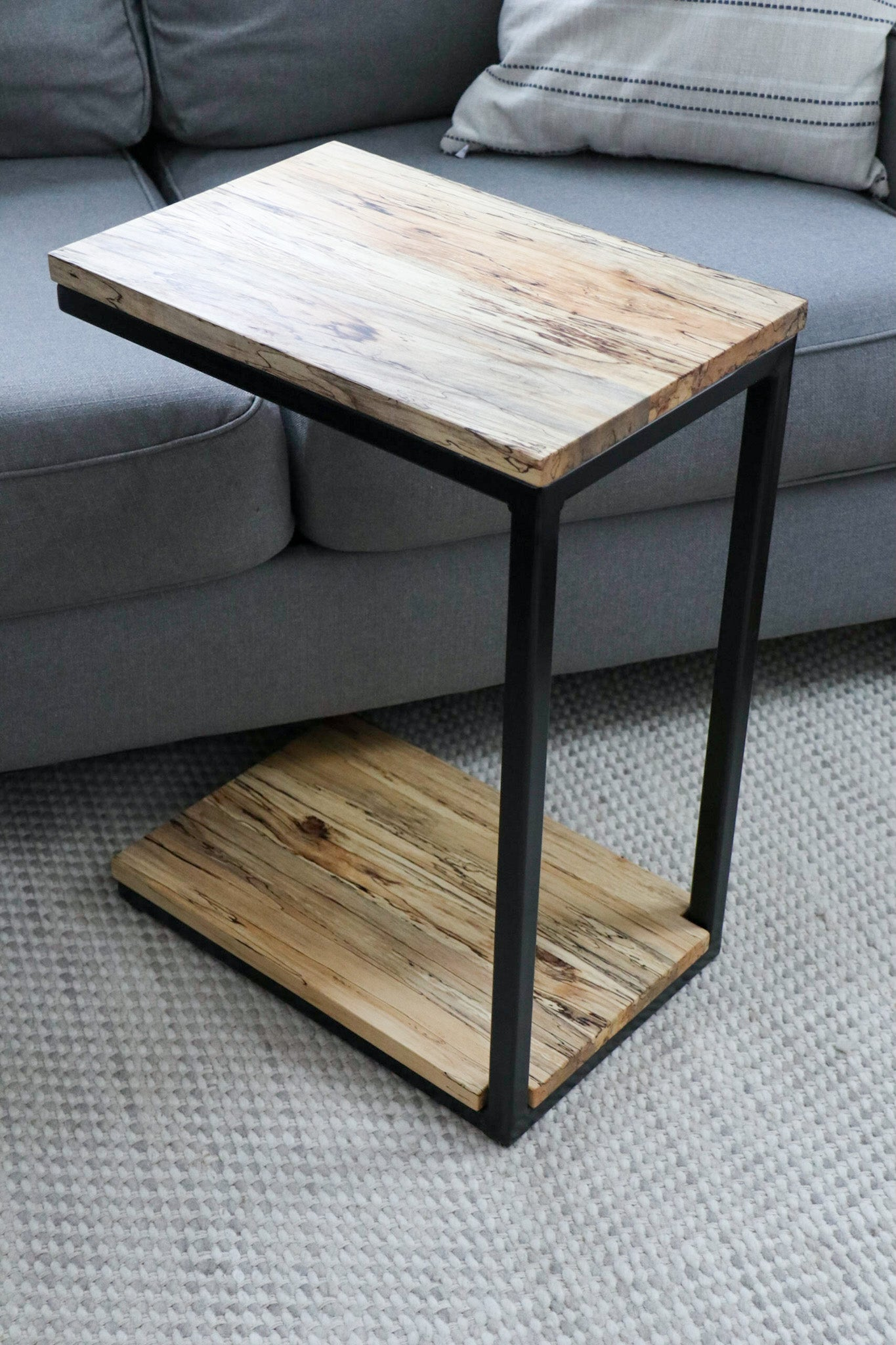 Spalted Maple Modern C Side Table