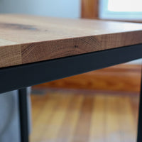 White Oak Computer Side C-Table