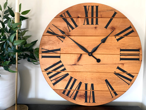 Large Alder Wall Clock