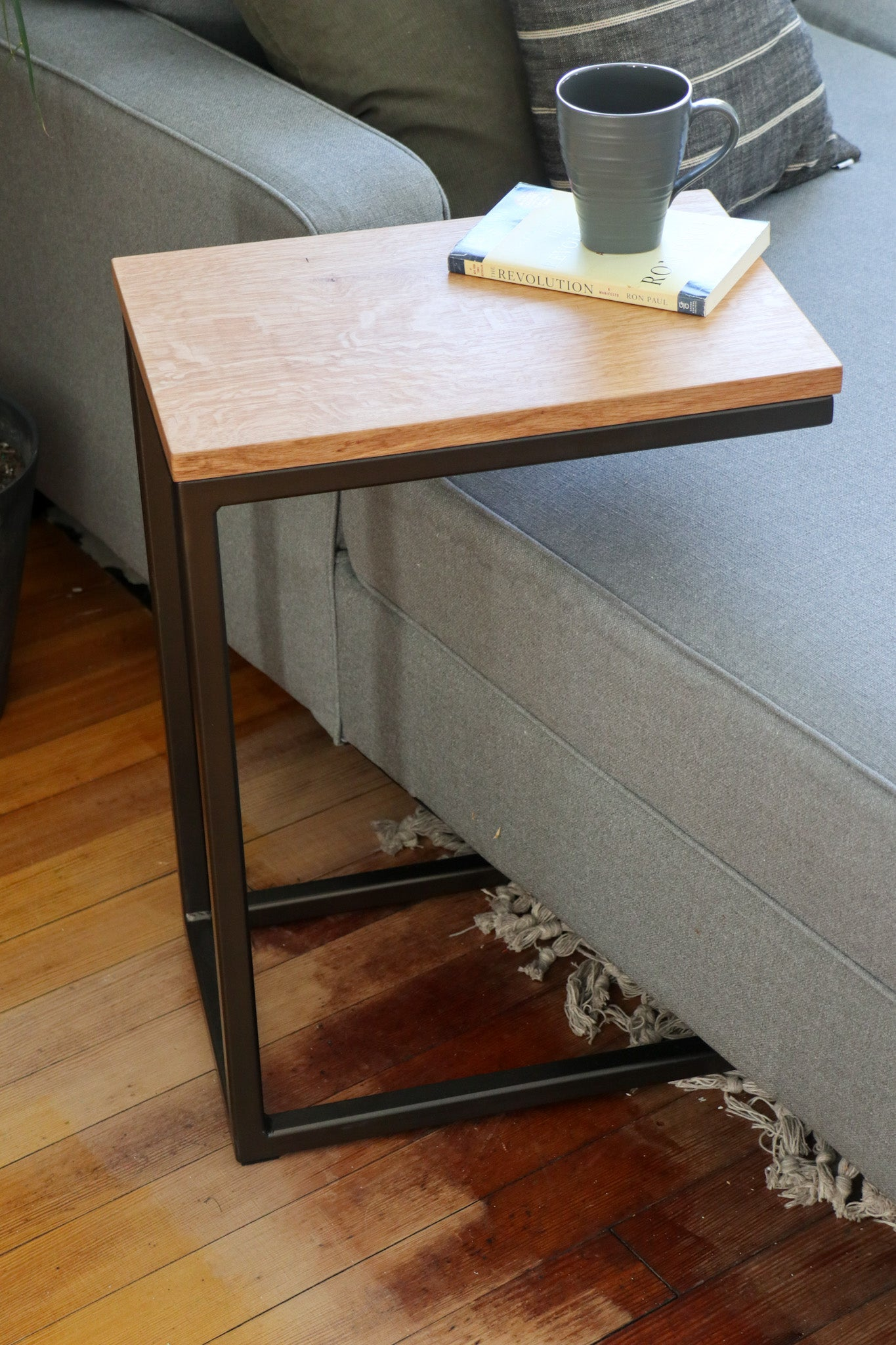 White Oak Modern Side C Table