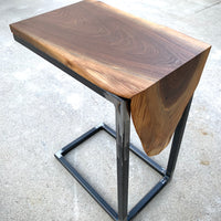 Waterfall Walnut Wood Laptop C Table