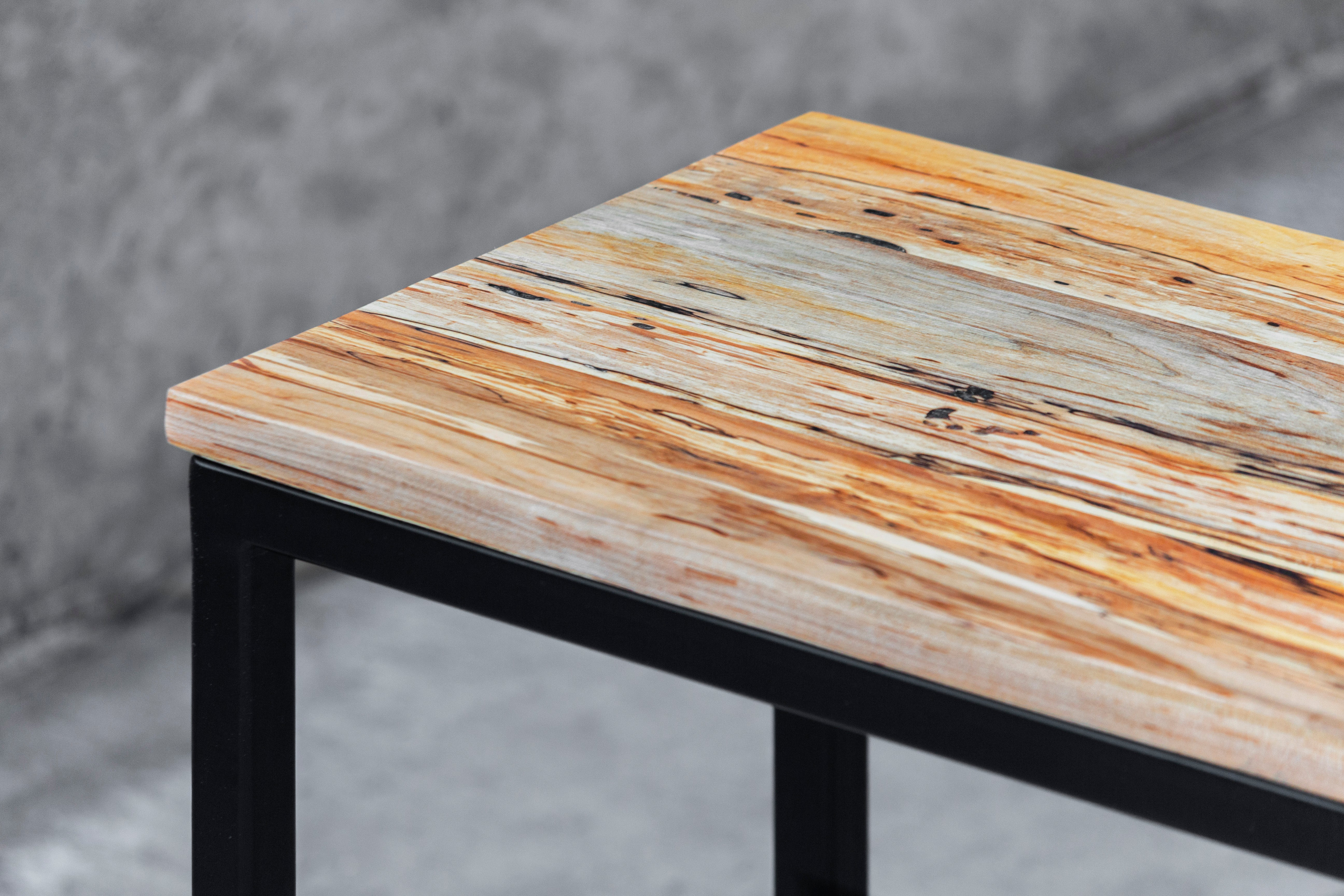 Solid Spalted Maple Wood Laptop C Table