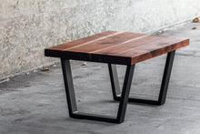Load image into Gallery viewer, Modern Walnut and Steel Coffee Table