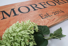 Load image into Gallery viewer, Last Name & Established Wedding Sign