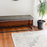 Modern Metal & Wood Bench