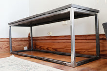 Load image into Gallery viewer, Modern Metal & Wood Bench
