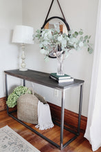 Load image into Gallery viewer, Modern Metal & Wood Console Entryway Table