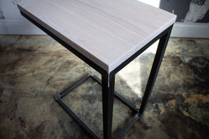 Solid White Washed Wood Laptop C Table
