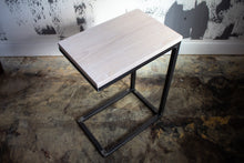 Load image into Gallery viewer, Solid White Washed Wood Laptop C Table