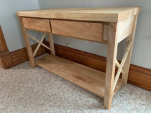 Load image into Gallery viewer, Farmhouse Modern Style Maple Console Entry Table