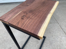 Load image into Gallery viewer, Live Edge Computer Side Table