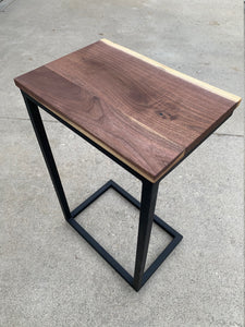 Live Edge Computer Side Table