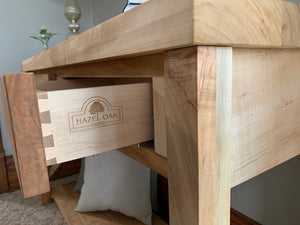 Farmhouse Modern Style Maple Console Entry Table