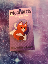 Load image into Gallery viewer, Moon Fox / Kitsune Acrylic Pin w/ FREE Pin Locker