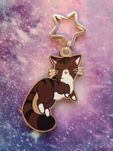 Load image into Gallery viewer, Brown Tabby Cat Wooden Eco-Friendly Keychain (Cherry Veneer)
