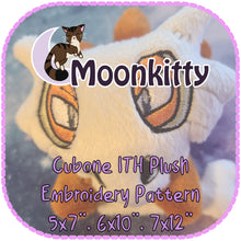 "Load image into Gallery viewer, PATTERN - Cubone ITH Embroidery Plush 5x7"" 6x10"" 7x12"""