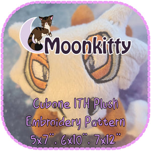 "PATTERN - Cubone ITH Embroidery Plush 5x7"" 6x10"" 7x12"""