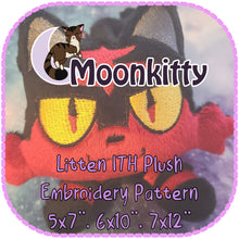 "Load image into Gallery viewer, PATTERN - Litten ITH Embroidery Plush 5x7"" 6x10"" 7x12"""