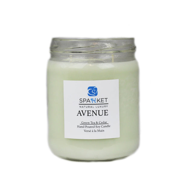 AVENUE SOY CANDLE - Green tea and cedar