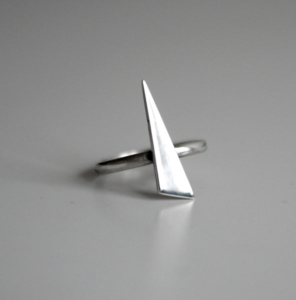 Spikey Silver Handmade Ring